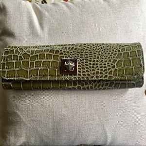 Nine West Olive Green Clutch